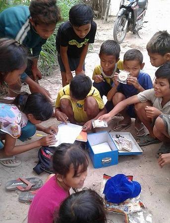子どもクラブの貯金活動
