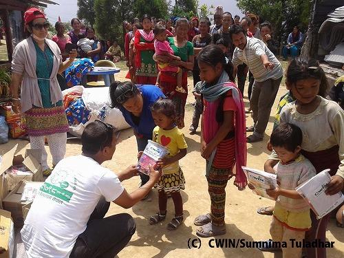 CWINの救援活動