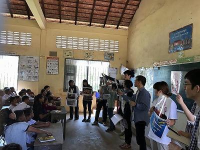 カンボジア・子どもの権利研修ツアー、タナオコミューンを視察しました!!